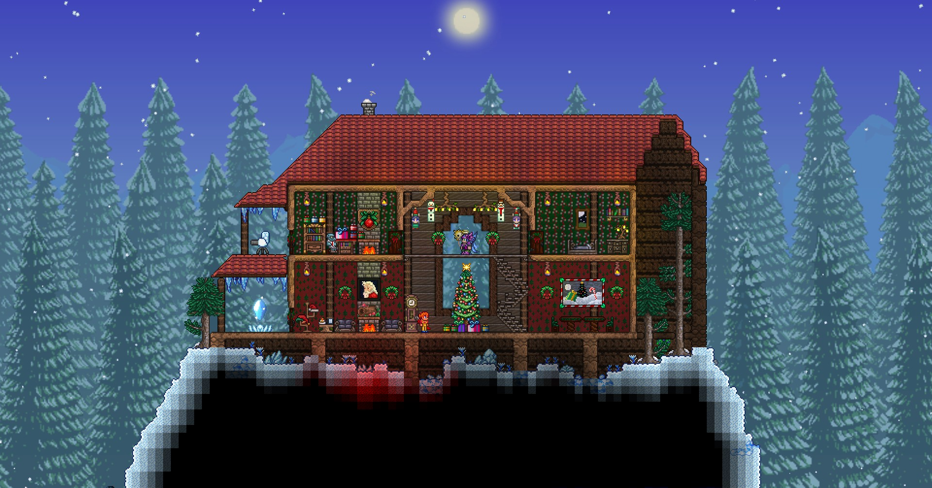 festive holiday cabin NPC house for The Goblin Tinkerer and The Mechanic